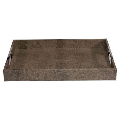 Embossed Rectangular Leather Tray Product Tile Image 432079