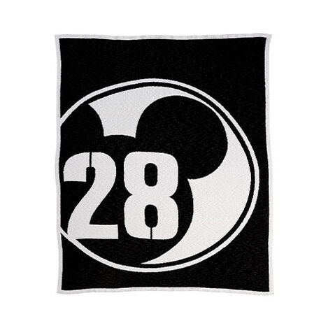 28 Varsity Knit Throw, Mickey's Ears Product Tile Image 0355010  MKE