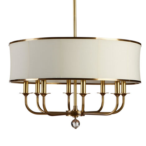 Zoe Eight-Light Brass Chandelier ,  , large