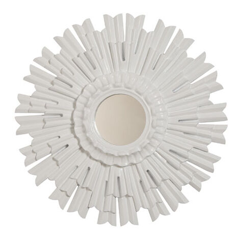 "20"" White Sunburst Mirror ,  , large"