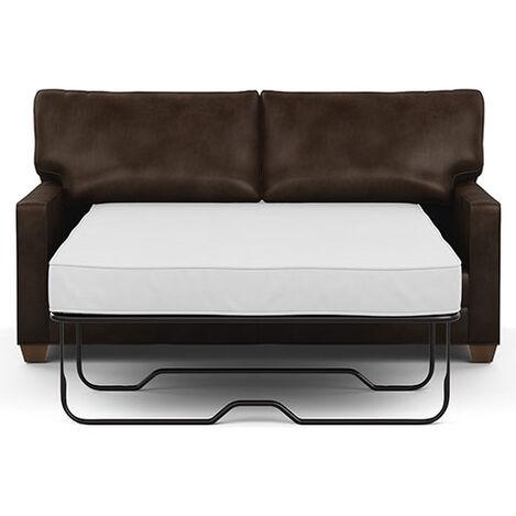 Bennett Track-Arm Leather Full Sleeper Sofa Product Tile Hover Image 737112