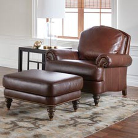 Hyde Leather Ottoman, Quick Ship ,  , hover_image