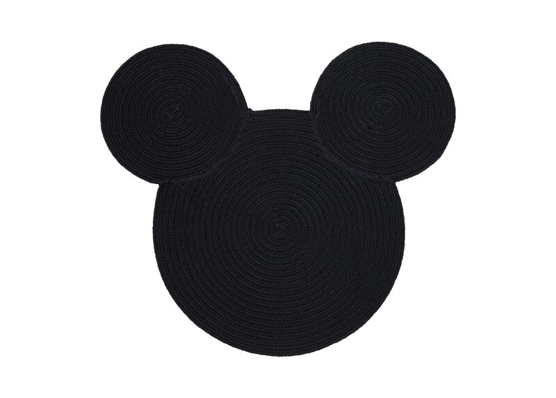 Braided Mickey Mouse Rug