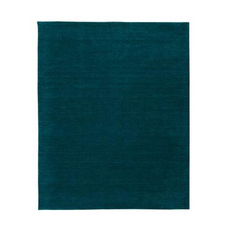 Loomed Wool Rug, Turquoise ,  , large