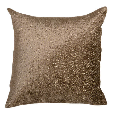Sequined Velvet Pillow, Taupe Product Tile Image 065747