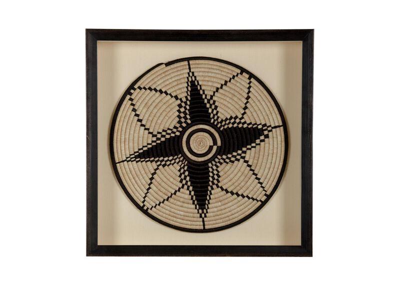 African Basket Iv Sculptural Dimensional Ethan Allen