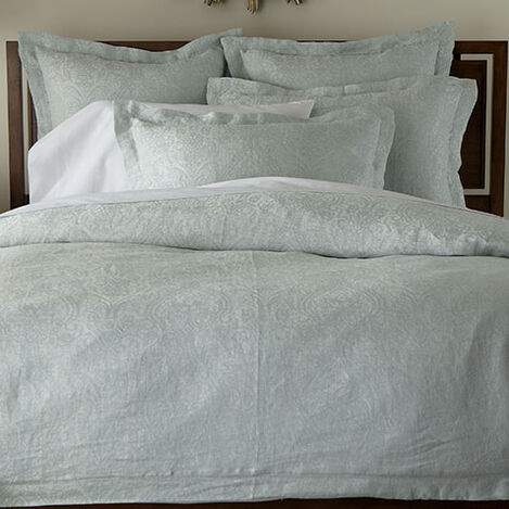 Mineral Linen Paisley Duvet Cover and Shams ,  , large