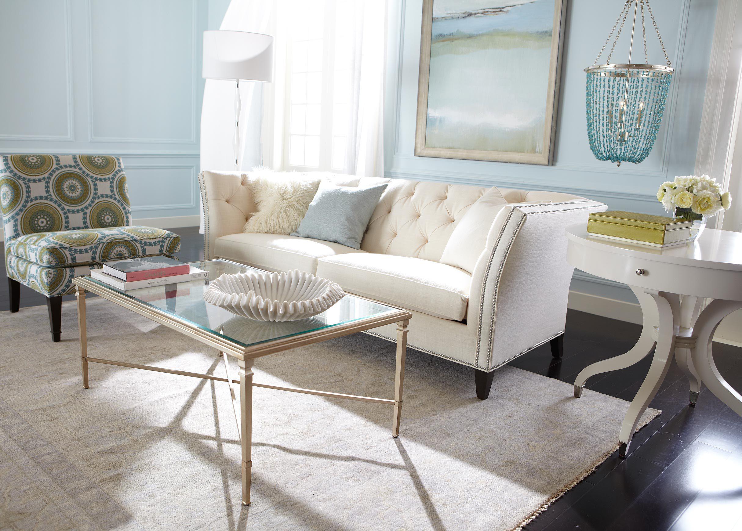 Elegant Rectangular Heron Coffee Table , , Alt