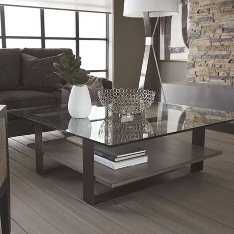 Rosemoor Square Glass-Top Coffee Table Product Tile Hover Image 148001