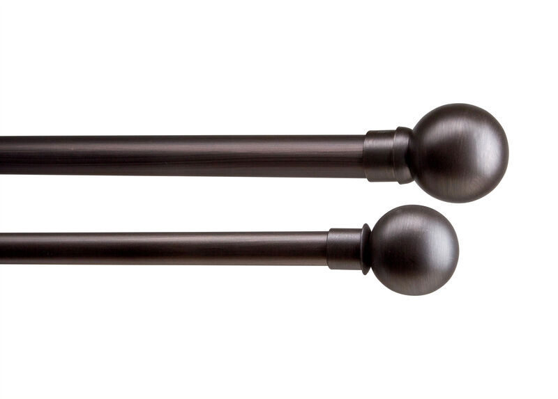 Ball Finials and Drapery Hardware Set, Oil-Rubbed Bronze