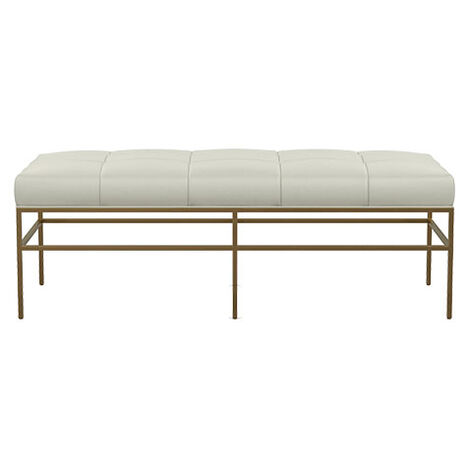 Ferri Upholstered Leather Metal Bench Product Tile Image 712520