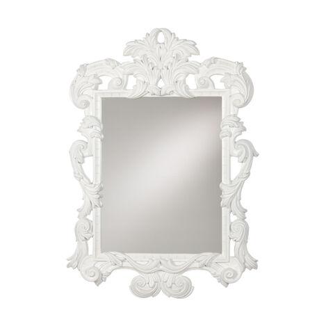 White Ornate Mirror ,  , large