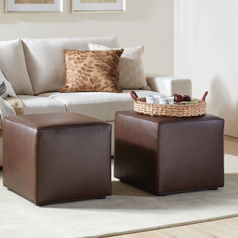 Dacian Leather Cube Ottoman Product Tile Hover Image 721000