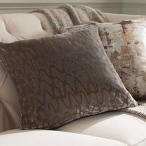 Ripple Pillow, Gray/Gold ,  , hover_image