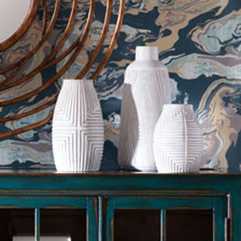 Aztec White Vase ,  , hover_image