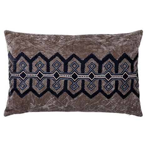 Embellished Velvet Pillow ,  , large