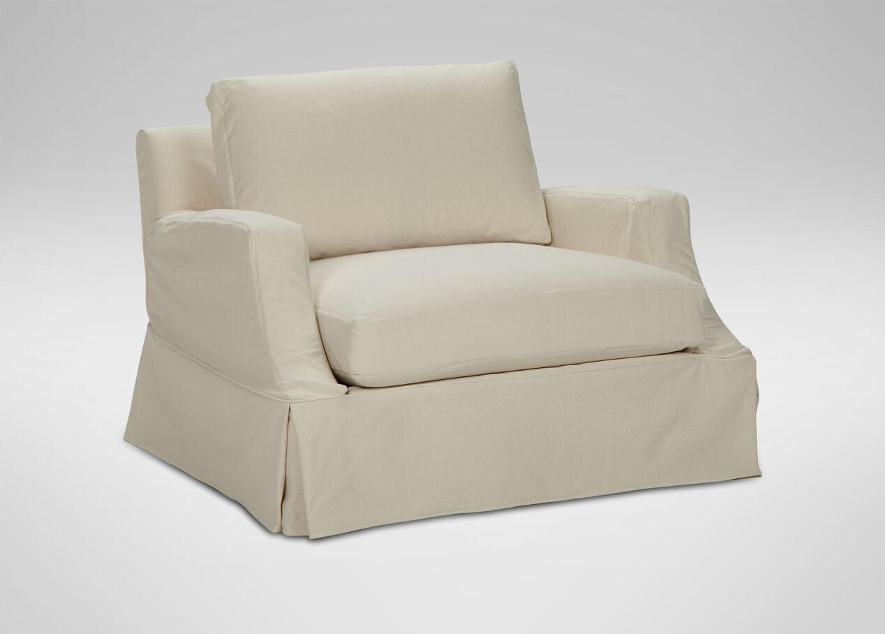Lynn slipcovered chair chairs chaises for C furniture new lynn