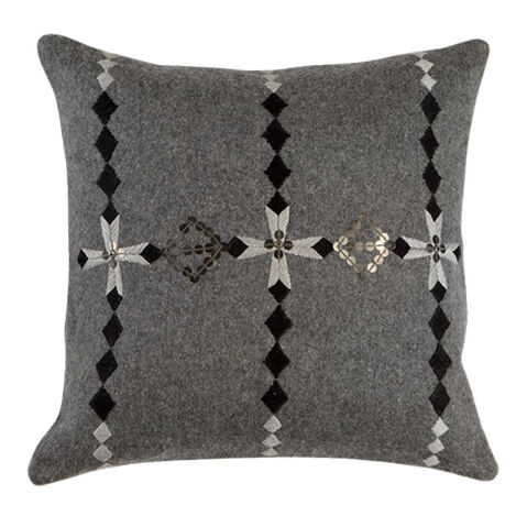 Modern Gray Embellished Pillow ,  , large