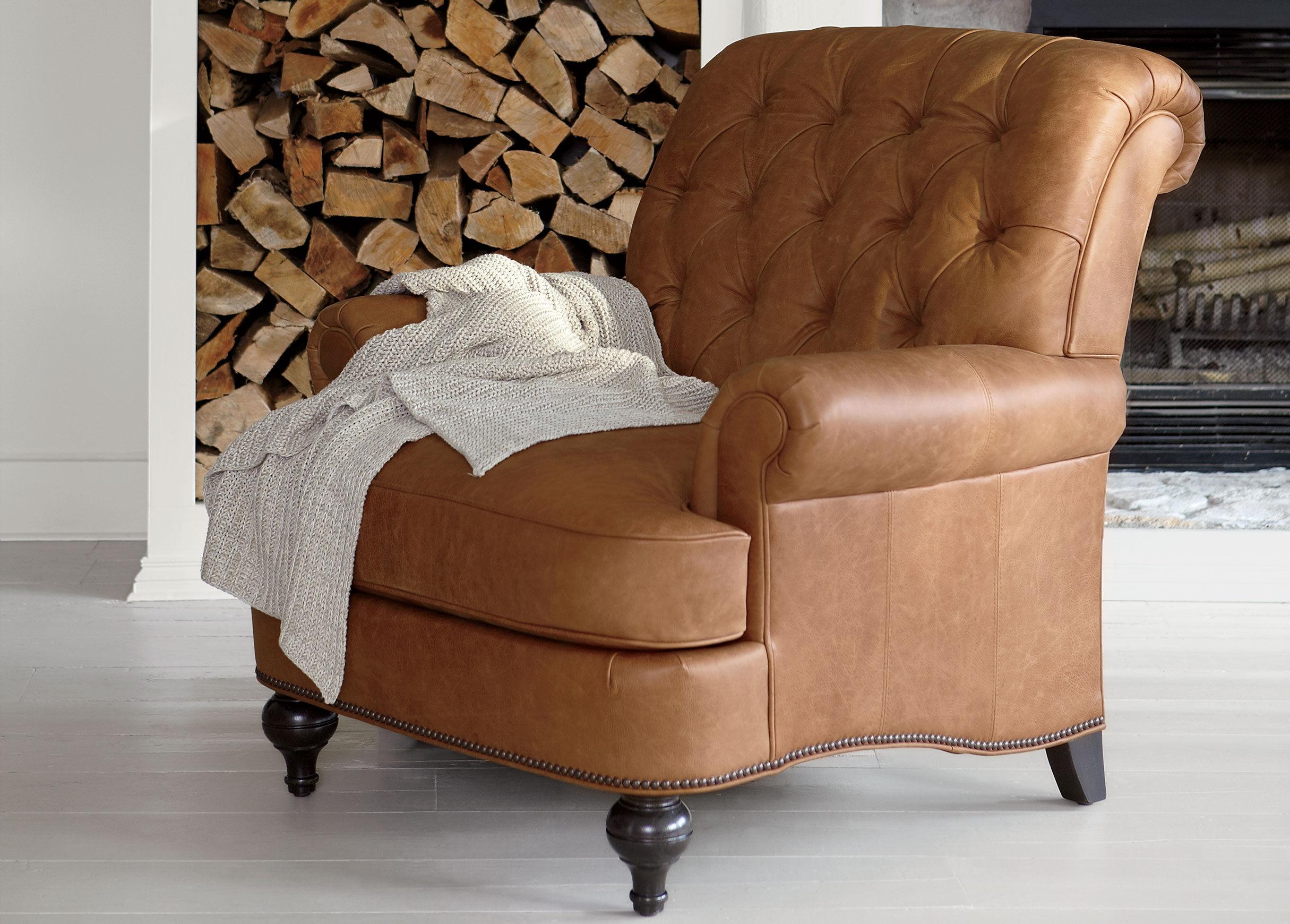 Attractive Shawe Leather Chair , , Alt · Ethan Allen ...