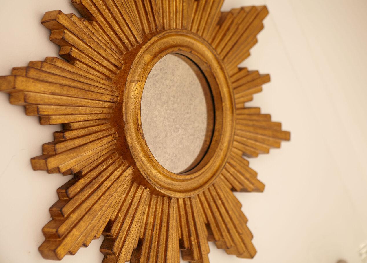 gold sunburst mirror. Null Gold Sunburst Mirror