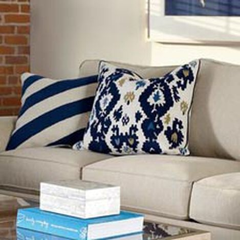 Crewel Embroidered Ikat Pillow ,  , hover_image