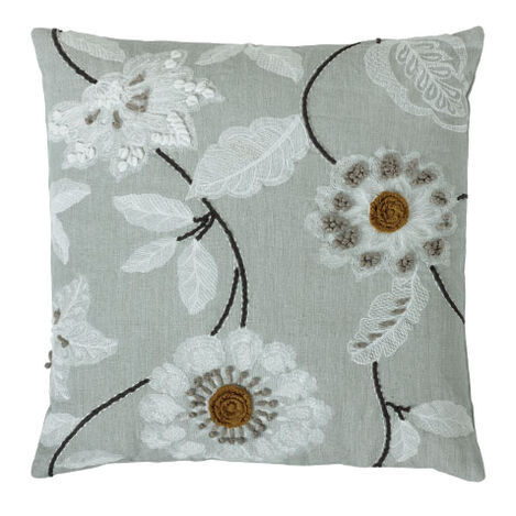 Embroidered Floral Pillow Product Tile Image 065660