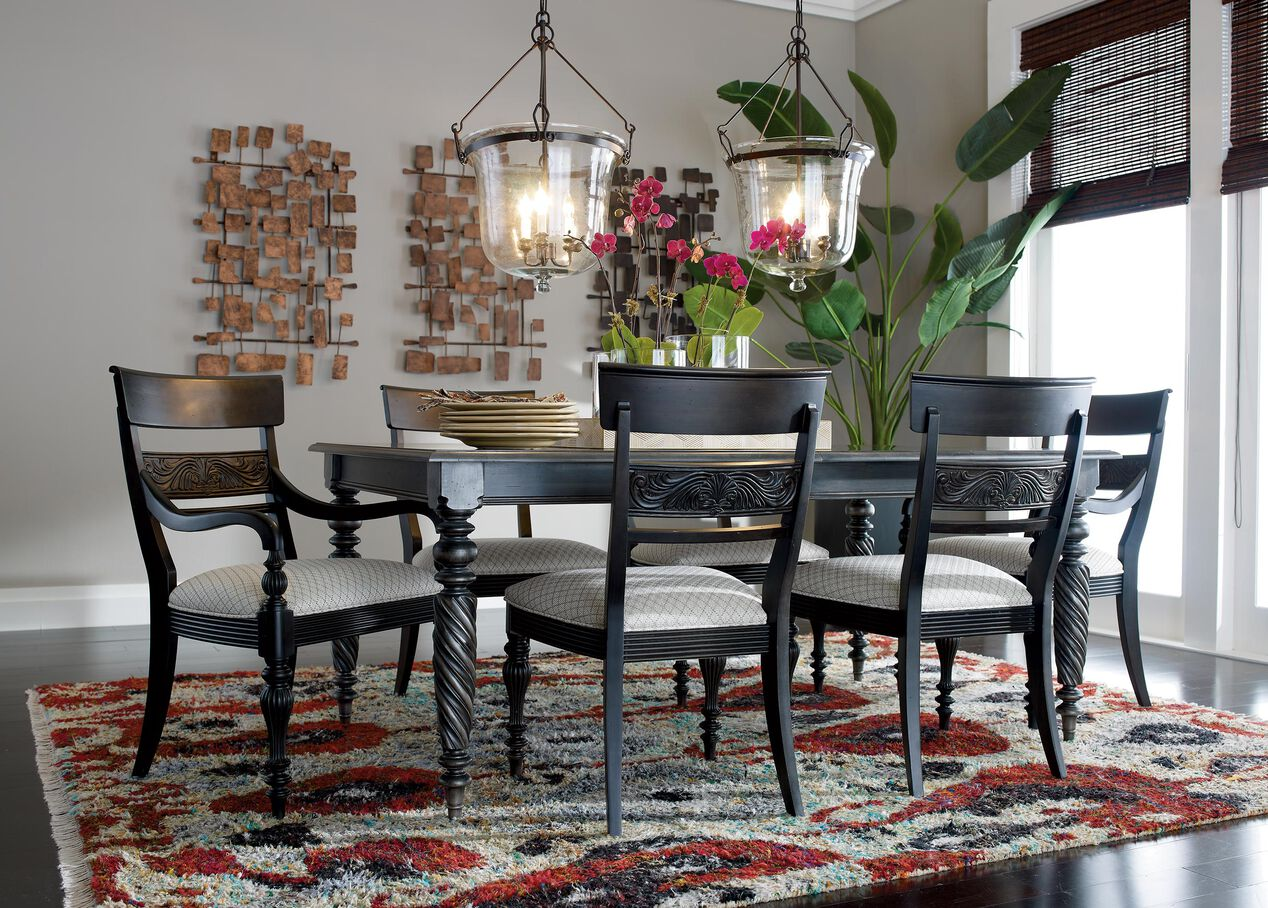 Ethan allen livingston dining table gallery dining table for V dining room table