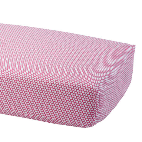 Dotty Crib Sheet, Minnie Pink ,  , large