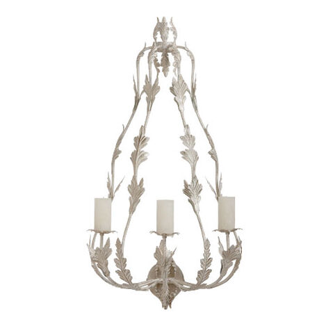 Antique Leaf Candle Sconce Product Tile Image 437250