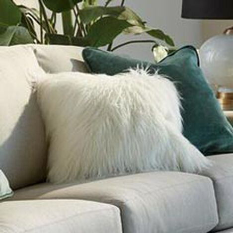 Faux Fur Pillow, Ivory ,  , hover_image