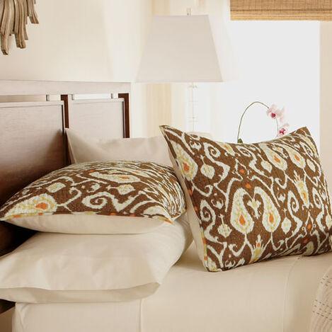 Housse décorative pour oreiller standard Kantha brune Trishna ,  , large