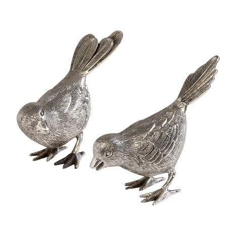 Ensemble de deux oiseaux chanteurs  ,  , large