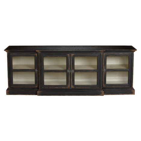 Farragut Media Cabinet, Rustic Black with White Interior Product Tile Image 139855   738