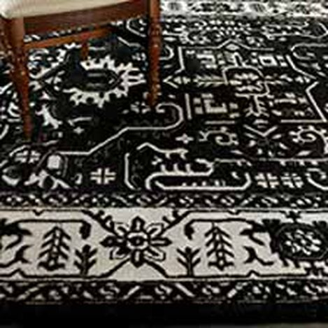 Heriz Deconstructed Rug, Black/Ivory ,  , hover_image