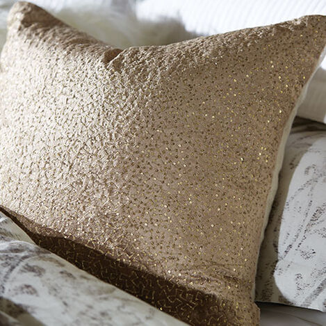 Sequined Velvet Pillow, Taupe Product Tile Hover Image 065747