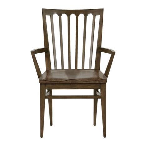 Benham Wood-Seat Armchair ,  , large