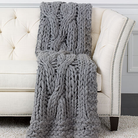 Cross Cable Knit Throw Product Tile Image 031895MST