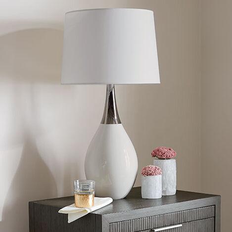Capri White Ceramic Table Lamp Product Tile Hover Image 096176