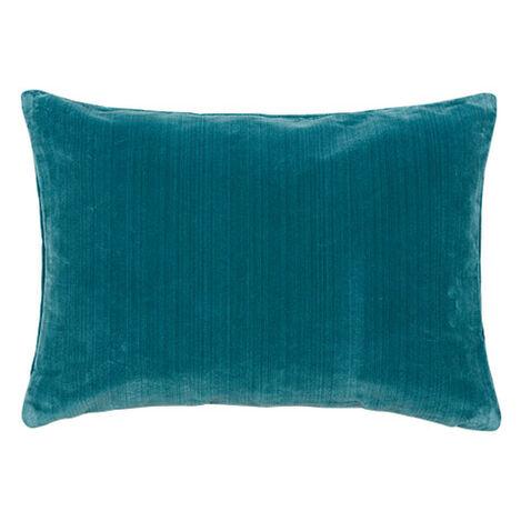 Velvet Strie Lumbar Pillow, Teal ,  , large