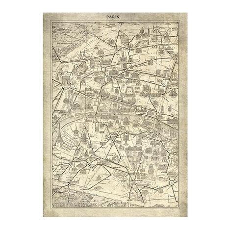 Paris Map I Vintage Product Tile Image 1124493