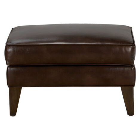 Emerson Leather Ottoman, Quick Ship Product Tile Image 677530