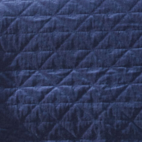 Gresham Navy Velvet Coverlet and Shams Product Tile Hover Image greshamnavy