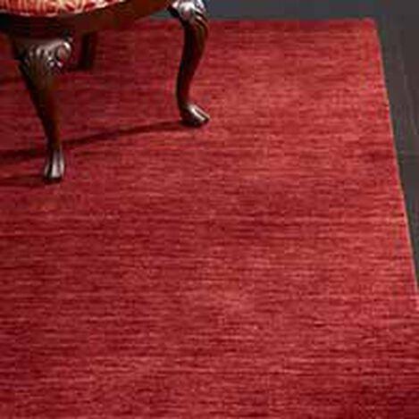 Tapis tissé en laine couleur rouge grenat ,  , hover_image