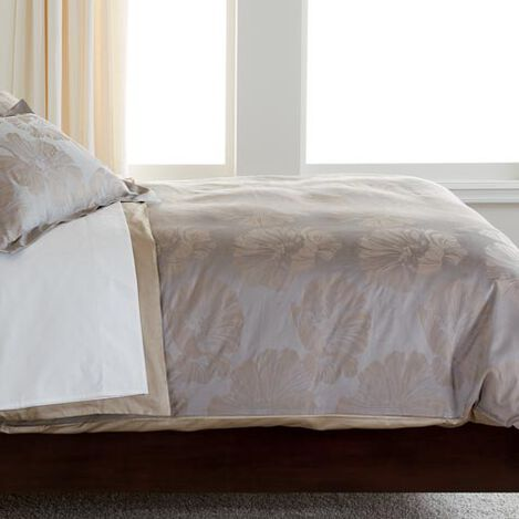 Susana Taupe Floral Full/Queen Duvet Cover ,  , large