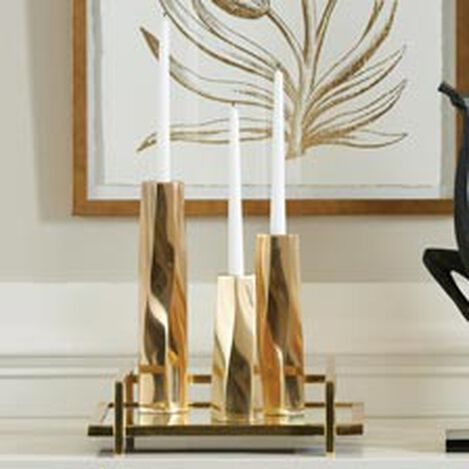 Vera Brass Candlestick ,  , hover_image