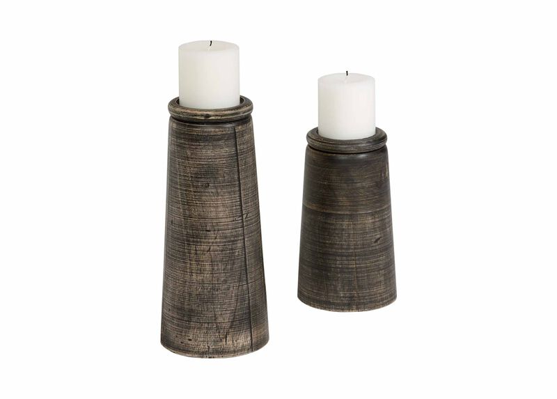 Dillon Black Candleholders ,  , large_gray