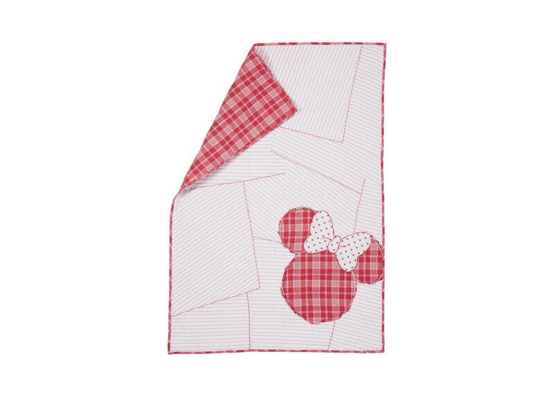 Ticking Stripe Minnie Toddler Quilt, Minnie Pink
