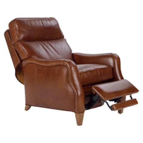 Aiden Leather Recliner, Old English/Saddle ,  , hover_image