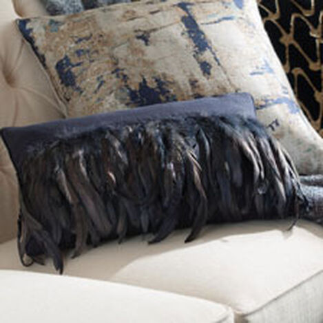 Navy Feathered Pillow ,  , hover_image