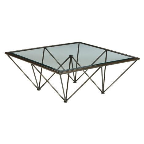 Kestral Square Coffee Table, Vintage Steel ,  , large